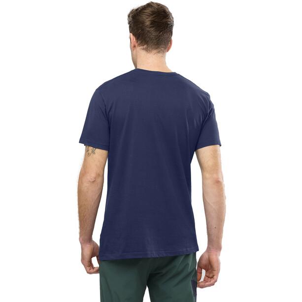 Salomon Coton Logo Kurzarm T-Shirt Herren night sky