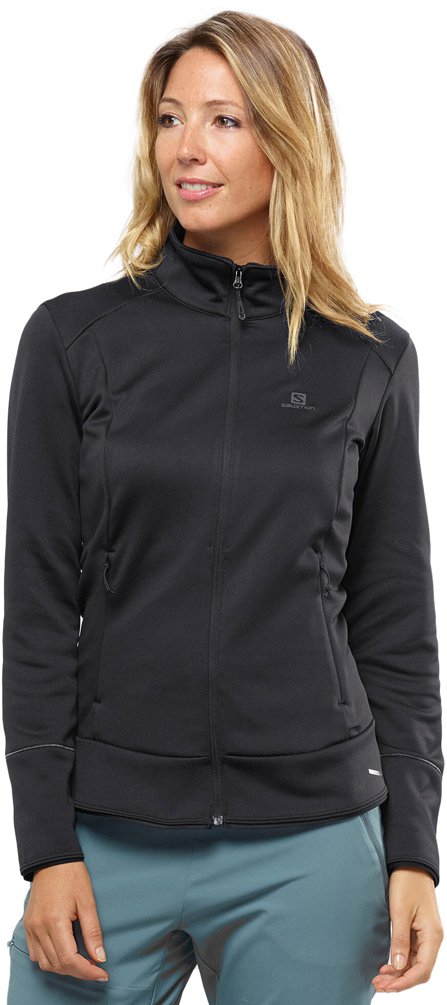 Salomon Discovery Full Zip Midlayer Damen black | campz.ch
