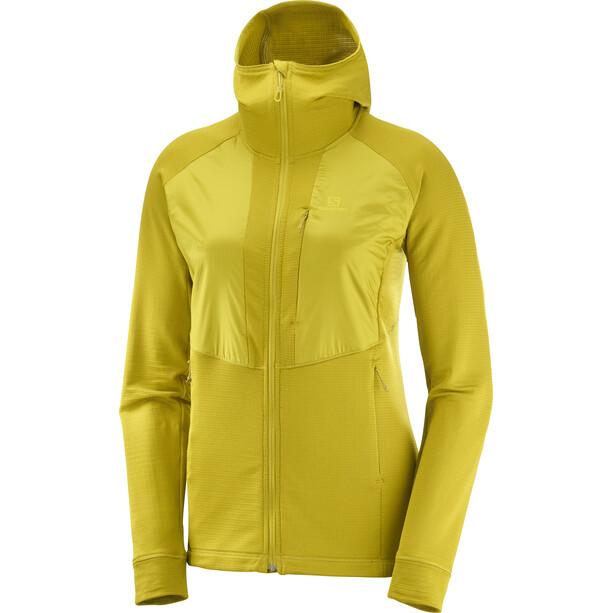 Salomon Grid Full-Zip Midlayer Damen gelb