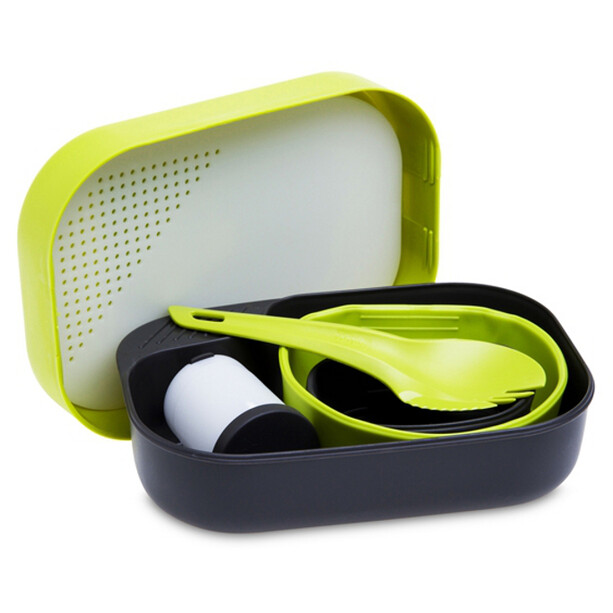 Wildo Camp-a-box Geschirrset Complete lemon