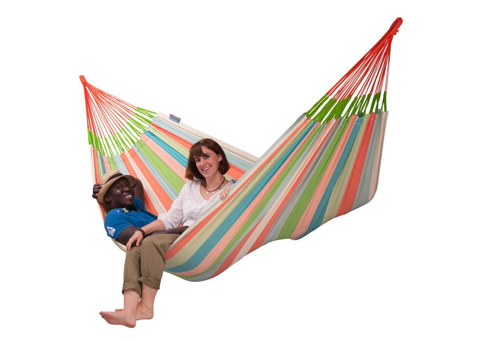 la siesta domingo hamac vert orange sur. Black Bedroom Furniture Sets. Home Design Ideas