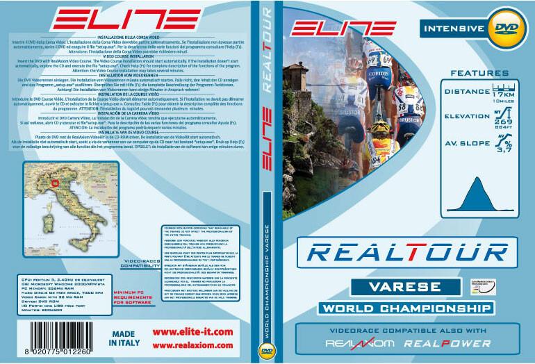 Elite DVD Varese 2008 Wordchampionships Real Axiom/Power/Tour Grønn/Hvit  2017 Tilbehør til Sykkeltrainers