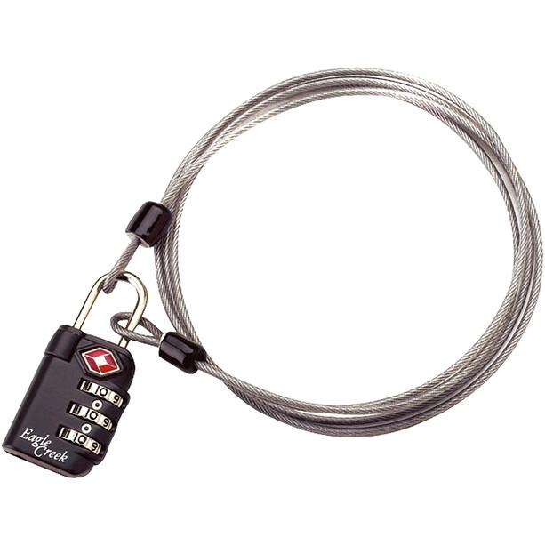 Eagle Creek 3-Dial TSA Cadenas & câble, graphite