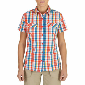 The North Face Boulder Kassie Kurzarmshirt S/S, Woven Damen juicy red juicy red