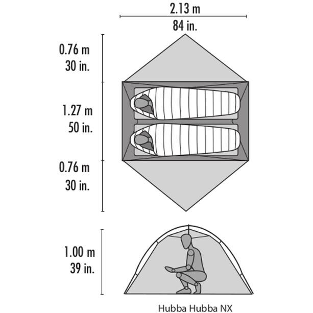MSR Hubba Hubba NX Zelt grey