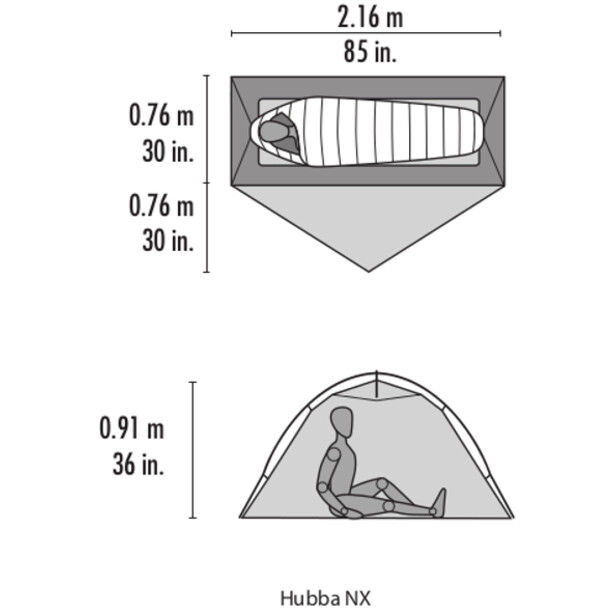 MSR Hubba NX Teltta, grey
