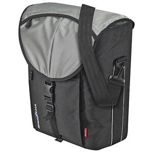 KlickFix Cita GTA Gepäckträgertasche schwarz/silber schwarz/silber