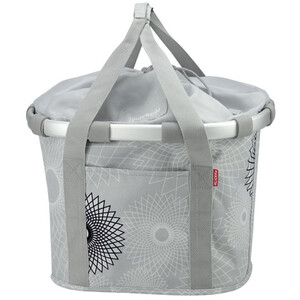 KlickFix Reisenthel Panier de vélo, crystals-light grey crystals-light grey