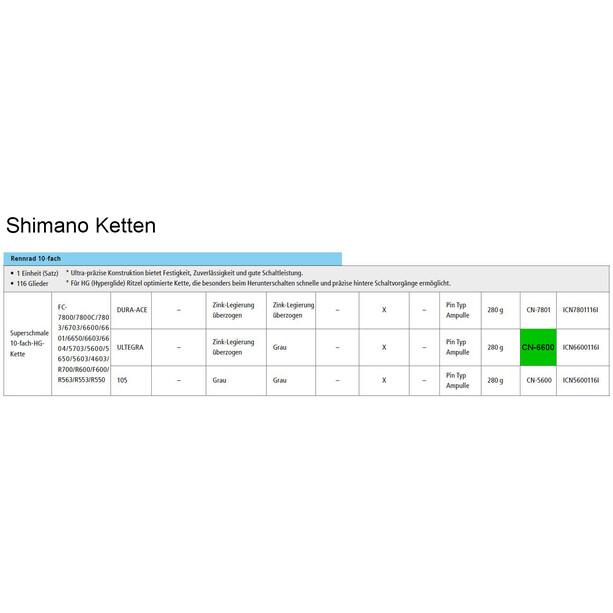 Shimano Ultegra CN-6600 Kette 10-fach grau