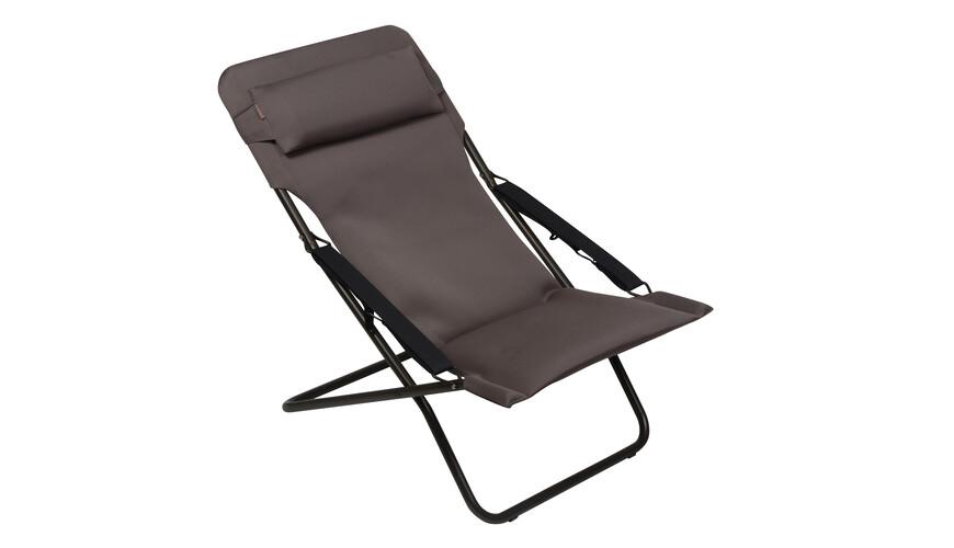 lafuma transabed xl plus chaise pliante marron sur. Black Bedroom Furniture Sets. Home Design Ideas