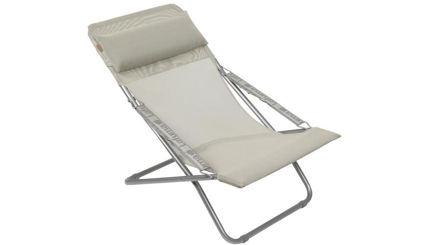 lafuma chaise pliante gris sur. Black Bedroom Furniture Sets. Home Design Ideas