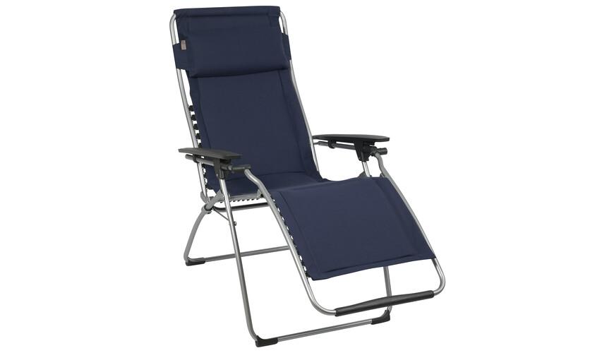 lafuma chaise pliante futura clippe grau avec polycoton sur. Black Bedroom Furniture Sets. Home Design Ideas