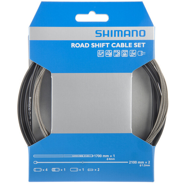 Shimano OT-SP41 Gearkabelsæt Road, rustfrit stål, sort