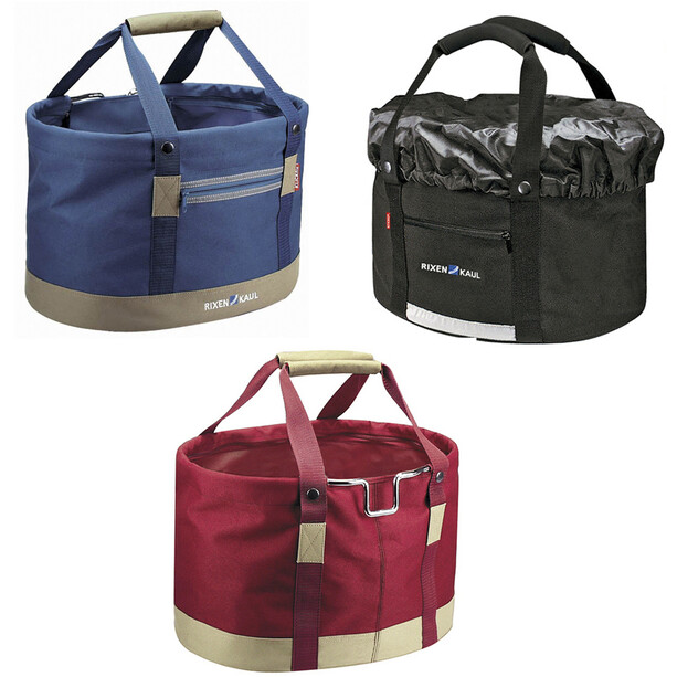 KlickFix Shopper Comfort Fahrradtasche blau/rot