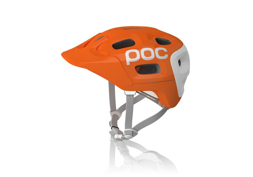 poc trabec race helmet orange white g nstig kaufen bei. Black Bedroom Furniture Sets. Home Design Ideas