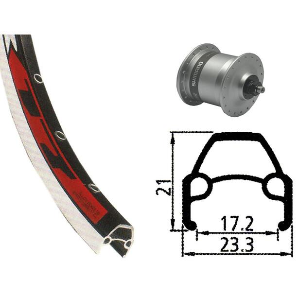 Rodi VR17 Vorderrad Vorderrad 622-17 36L mit DH-3N30 Nabendynamo silber