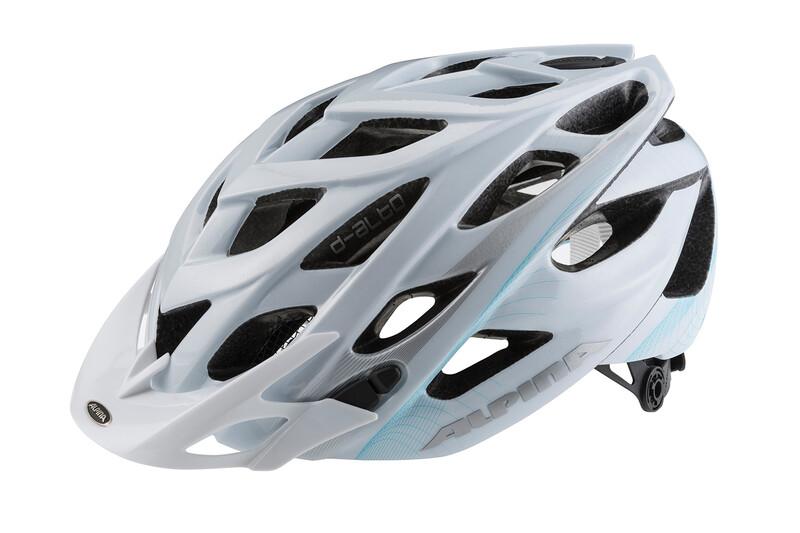 Alpina D-Alto Helmet white-blue-silver 52-57 cm 2018 Fahrradhelme