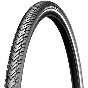 "Michelin Protek Cross タイヤ 28"" ワイヤービード リフレックス ブラック"