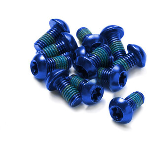 Reverse Schraubenset für Bremsscheiben 12 Stück blau blau
