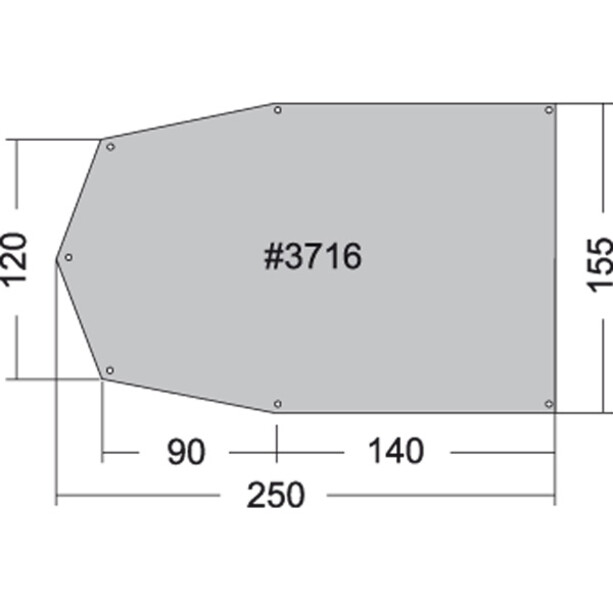 Tatonka Tent underlay 250x155cm
